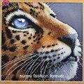 Точная печать  бисер  вышивка леопардовым животным  полный бисер  домашний декор  рукоделие  ремесло  украшение для дома  новинка