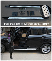 High Quality Aluminum alloy Car Running Boards Side Step Bar Pedals Fits For BMW X3 F25 2011.2012.2013.2014.2015.2016.2017