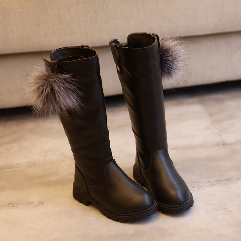 Winter-New-Fashion-Children-Leather-Boots-Warm-Princess-Boots-Girls-Boot-Kids-Cute-Shoes-Size-26-37-4