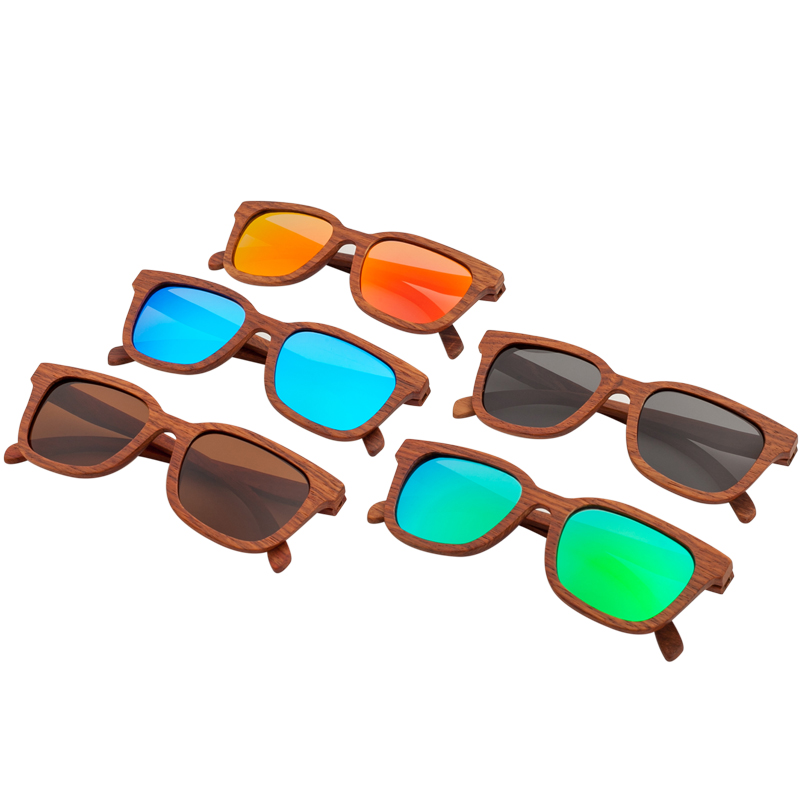New style vintage Polarized Men sunglasses Women brand sunglasses Beach High grade wooden eyeglasses male Oculos de sol UV400 in Men 39 s Sunglasses from Apparel Accessories