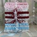 Envío Libre Rojo/Azul/Color de Rosa/blanco de Las Mujeres Lencería Sexy Liga de Encaje Cinturón Piernas Arnés Anillo de Las Mujeres Ligas de la boda de novia