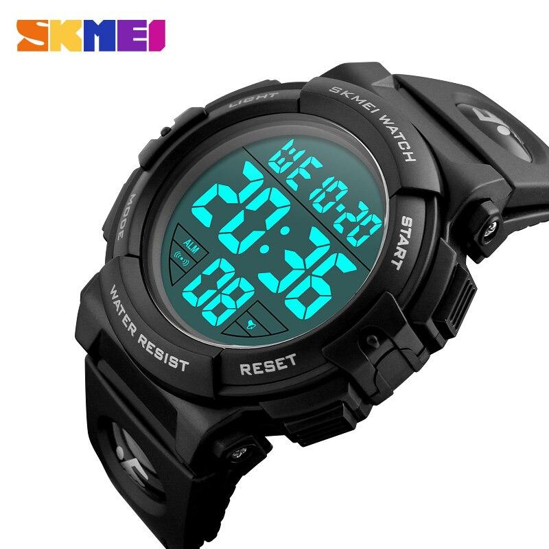 SKMEI mode Sport de plein air montre hommes multifonction 5Bar étanche militaire numérique montres horloge Relogio Masculino 1258