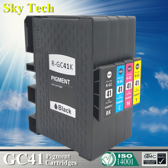 Compatible Cartridge For Ricoh GC41 GC-41 , For Ricoh Ricoh SG 3110DNw/3110SFNw/3100SNw/2100N/3110DN/7100DN . With Pigment Ink