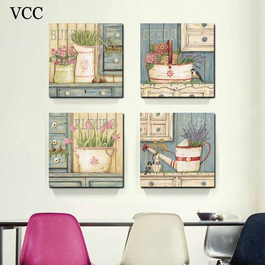 Aliexpresscom Buy VCC Wall Painting Flower Canvas Painting