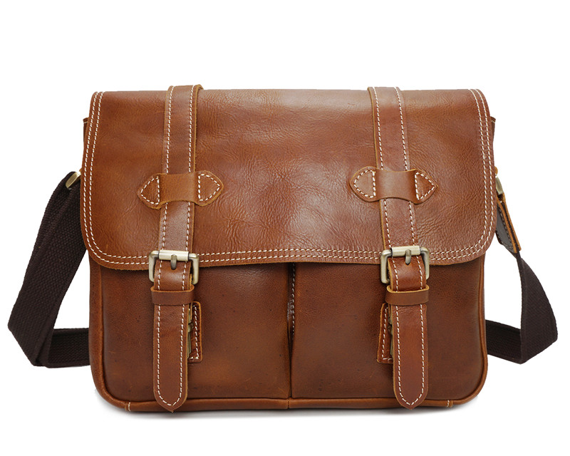 Nesitu High Quality Vintage Brown Coffee Genuine Leather Cross Body Men Messenger Bags Camera Bag Shoulder Bags #M8101Nesitu High Quality Vintage Brown Coffee Genuine Leather Cross Body Men Messenger Bags Camera Bag Shoulder Bags #M8101