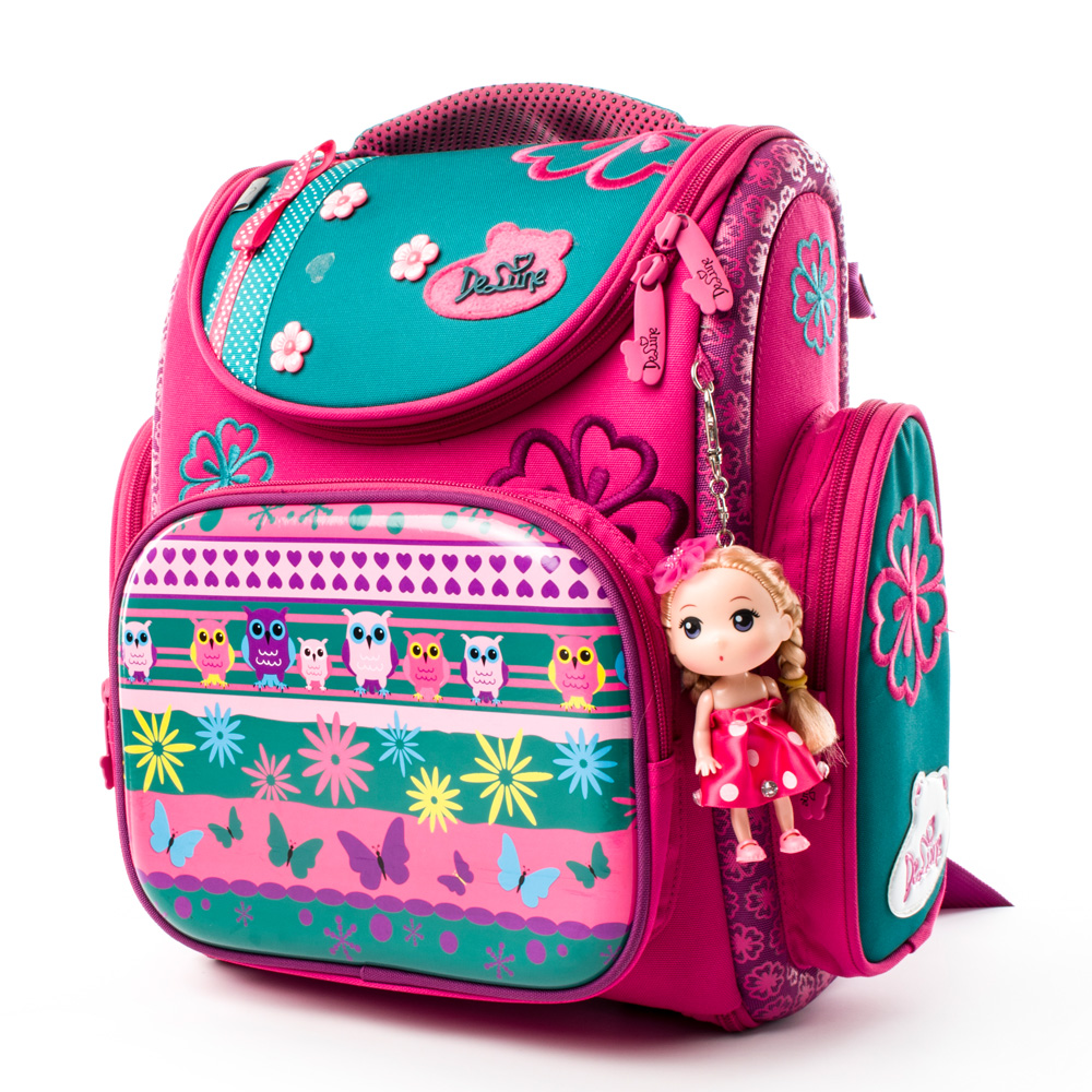 Delune New Orthopedic European Children School Bag Girls Lovely Cat Pattern Cartoon Mochila Infantil Large Capacity Backpack 1