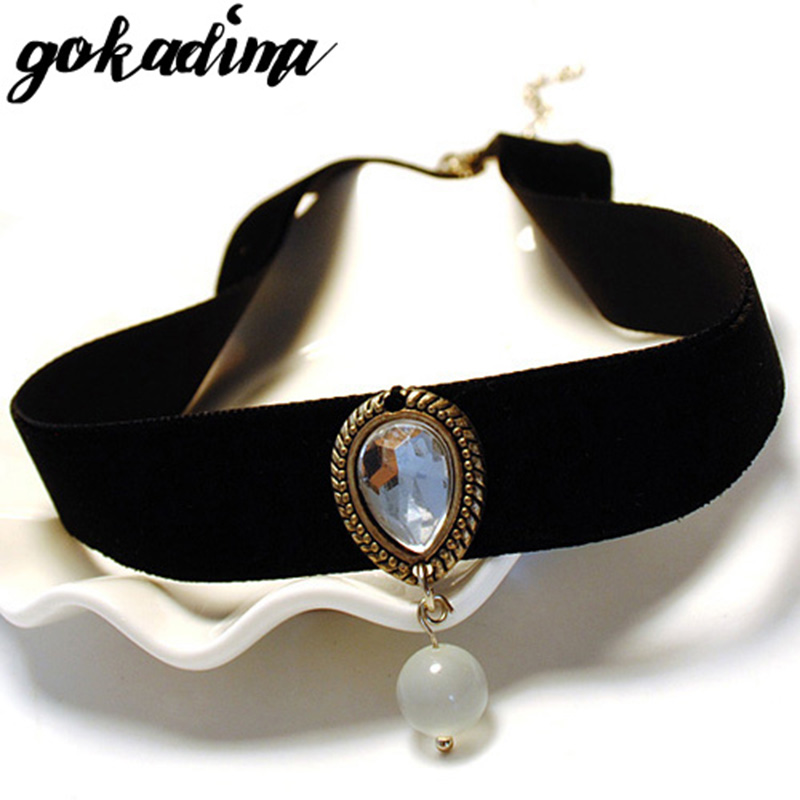 Gokadima collar necklace 2019 vintage Handmade Retro statement women Short Steampunk choker necklace Girl Lolita Gothic jewelry