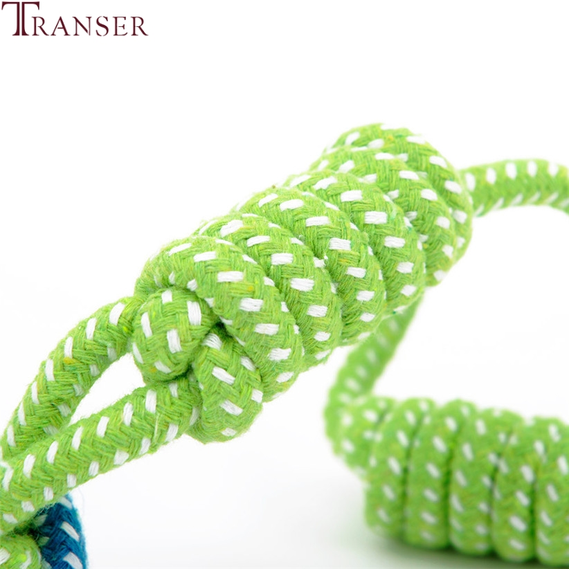 Transer Pet Supply Dog Toys Dogs Chew Teeth Clean Outdoor Traning Fun Playing Green Rope Ball Toy For Large Small Dog Cat 71229 #5