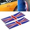 2 unids Jack UK Flag Unión Pegatinas de Vinilo Para Todos BMW Mini Cooper Manija de La Puerta