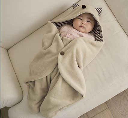 Receiving blanket swaddling cotton baby hooded blanket newborn envelope baby bedding 90 78cm bathrobe towel
