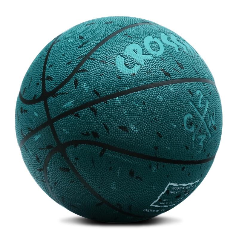 Лидер продаж, новый бренд, дешево, CROSSWAY L702, баскетбольный мяч, PU материал, Официальный Размер 7, баскетбольный мяч, бесплатная доставка, с сетчатой сумкой + иглой-5