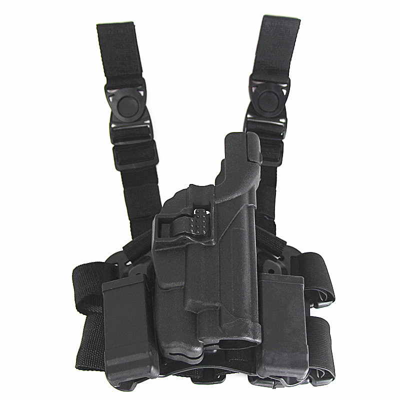 US $30 95 49% OFF Hunting Drop Leg Holster Tactical Gun Accessory Sig Sauer  P226 220 Military Compact Shooting Airsoft Pistol Thigh Holster-in