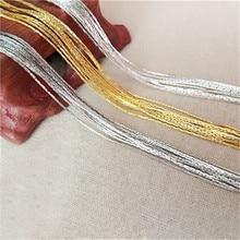 5 м/лот 0,8 мм ювелирное изделие, цепь в виде змеи, фурнитура, позолоченное/посеребренное ожерелье, цепочки, латунные, оптом, для изготовления ювелирных изделий своими руками