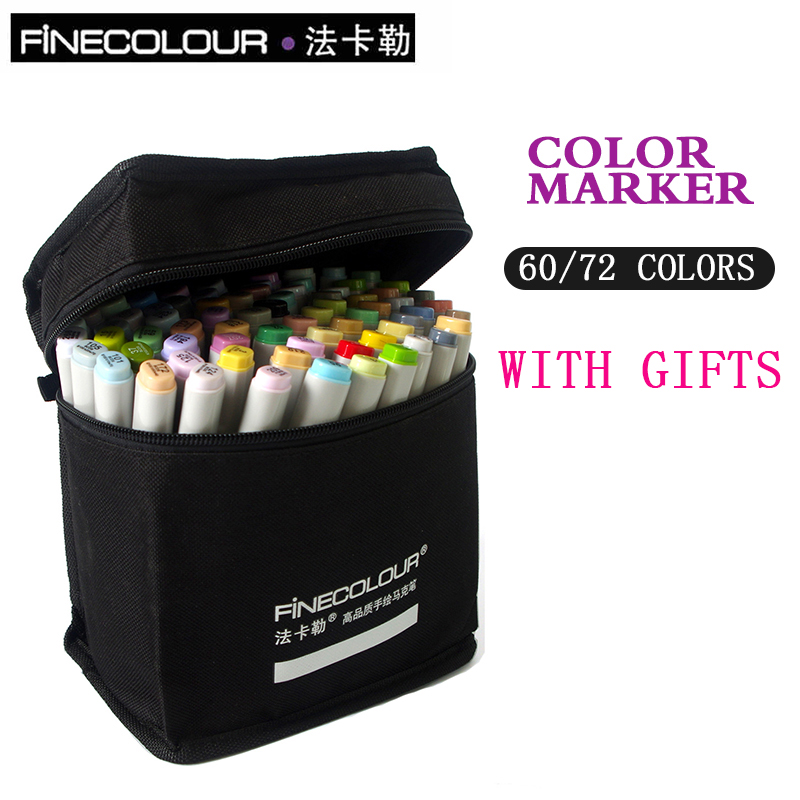 Finecolour Sketch Color Marker Pen Architecture Alcohol Based Art Markers 60 72 Colors set Manga Marker For Drawing touchnew 36 48 60 72 168colors dual head art markers alcohol based sketch marker pen for drawing manga design supplies