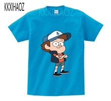 kids 8 colors new arrive Anime Gravity Falls cartoon child t shirts for boys and girls 2-12 Y shirt Short Sleeve tops tee  NN