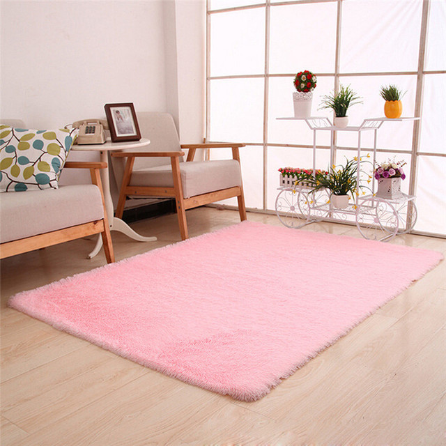 a10 fluffy rugs anti skid shaggy area rug dining room home bedroom carpet floor mat - Carpet For Dining Area