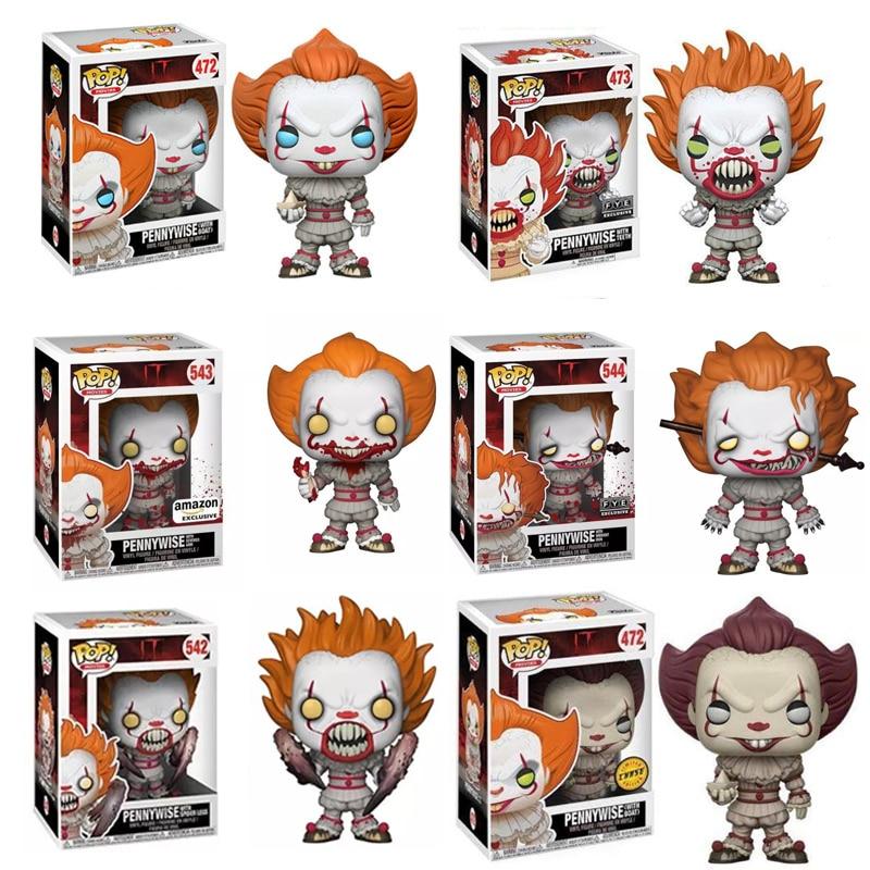 Funko Pop Movies Stephen King It Joker Clown Character PENNYWISE Vinyl Dolls Figure Toys