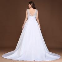 Plus Size Sexy Backless Stain Mermaid Wedding Dress 2018 Elegant Sweetheart Appliques Bridal Ball Gown Vestido de Noiva 1