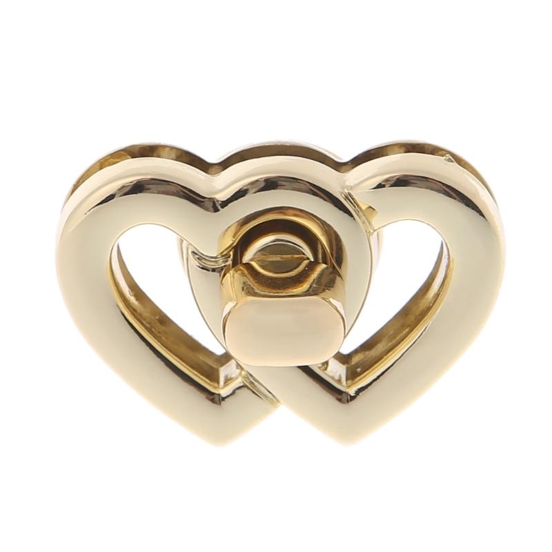 THINKTHENDO Metal Heart застежка пряжки замок замками Для сумки Сумка Кошелек корабль DIY