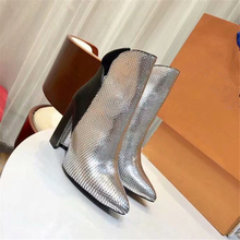 New Luxury Brand Genuine Leather Women Ankle Boots High Heel Ankle Boots Suede Leather Women Boots Zip Short Boots Shoes Woman