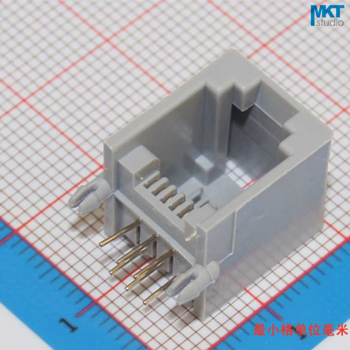 Lot of 15x PCB Mounting Connector Modular Jack RJ11 6P4C 4 Pin