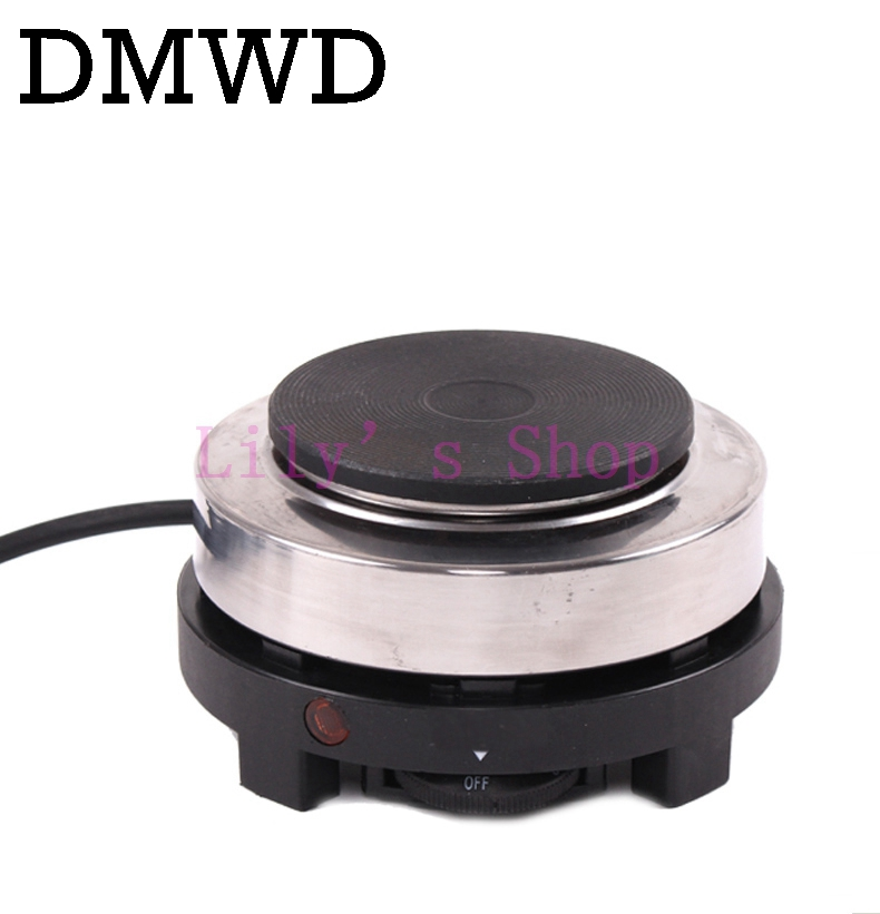 DMWD MINI electric stove oven cooker multifunctional small Coffee Heater Mocha heating hot plates Coffee milk machine 500w EU US stainless steel electric double ceramic stove hot plate heater multi cooking cooker appliances for kitchen 220 240v vde plug