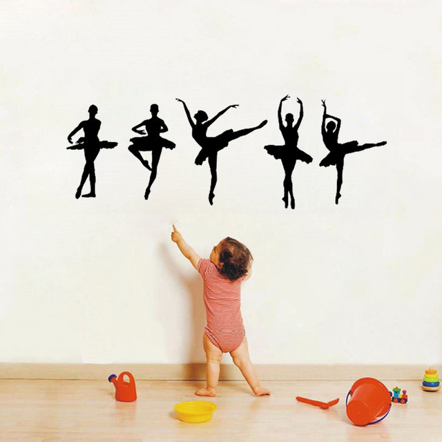 Ballet Ballerina Dancers Wall Decal girls bedroom wall decal Vinyl Decor Art Sticker Removable