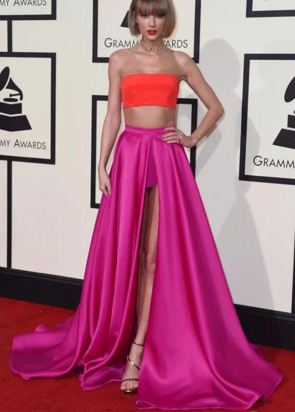 Rosa de dos piezas del vestido de partido atractivo alfombra roja ...