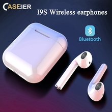 CASEIER I9S TWS Wireless Bluetooth Earphone With Charging Box Headphone Headset Mini Earphones auriculares bluetooth inalambrico awei g20bl bluetooth earphone headphone dual driver headset wireless sport earphone bass sound auriculares inalambrico bluetooth