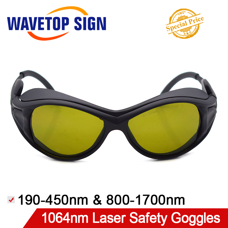 WaveTopSign 1064nm Laser Safety Goggles T4 190 450 800 1700nm Shield Protection OD4 CE For YAG