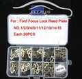 Car Lock Reed For Ford FOCUS FIESTA MONDEO ECOSPORT Reed Locking Plate Repairing Accessories +200PCS+ Gift Spring+Plastic Box