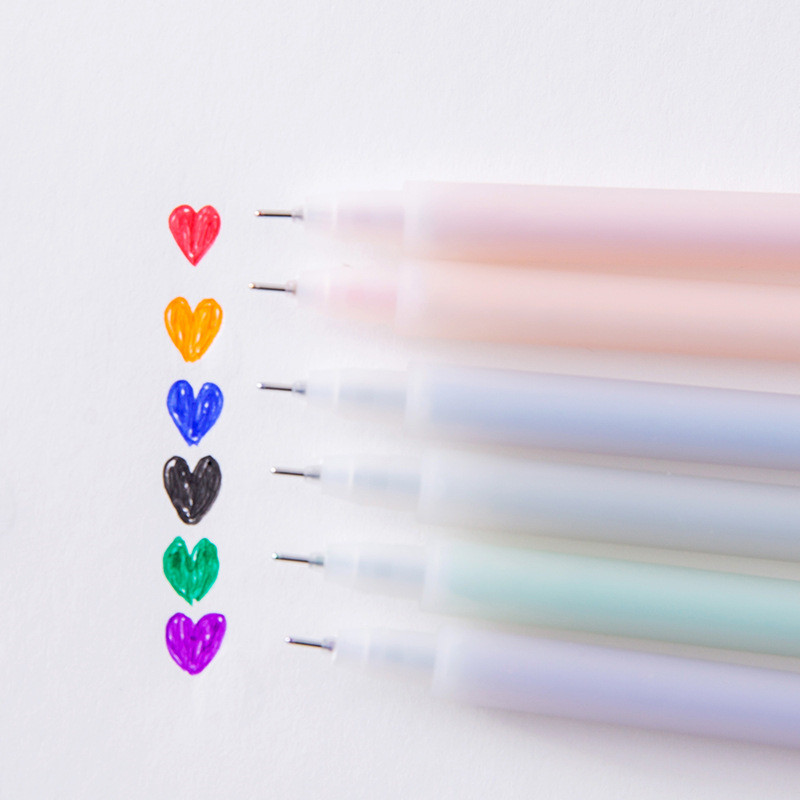 Colorful Korean Gel Pen Transparent Matted Polish School Office Supply Colors Stationary Paint Tool Kawaii Cute Stationery Store