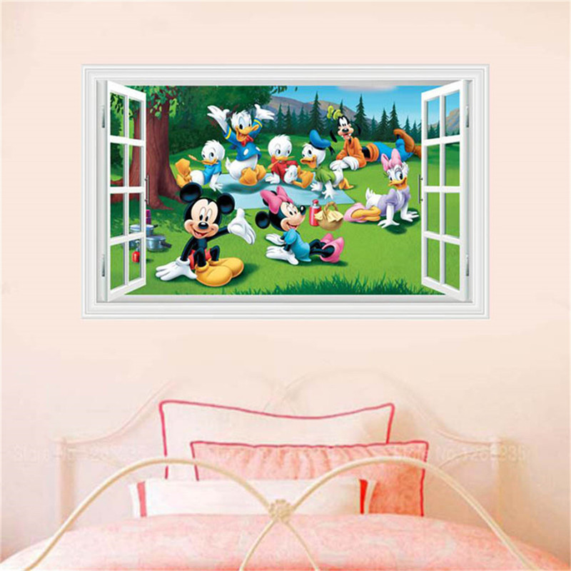 Removable Cute Cartoon D Window Decal Wall Sticker Kid Bedroom ...