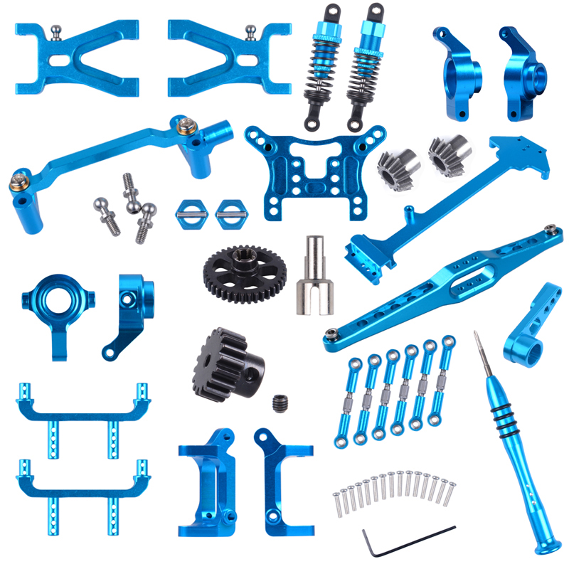 WLtoys 1:18 RC Car Spare Parts A959/A959-B/A969 Upgrade Metal Parts Alloy <font><b>Accessories</b></font> Shock Absorber/Gear/Servo/Rod/C seat etc. image