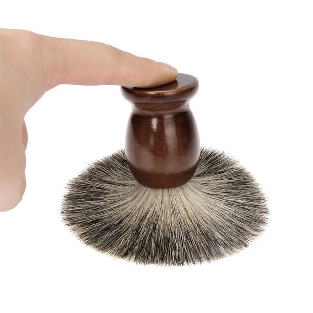 HAICAR ColorWomen Mens Wooden Beard Shaving Brush+Wood Shave Bowl