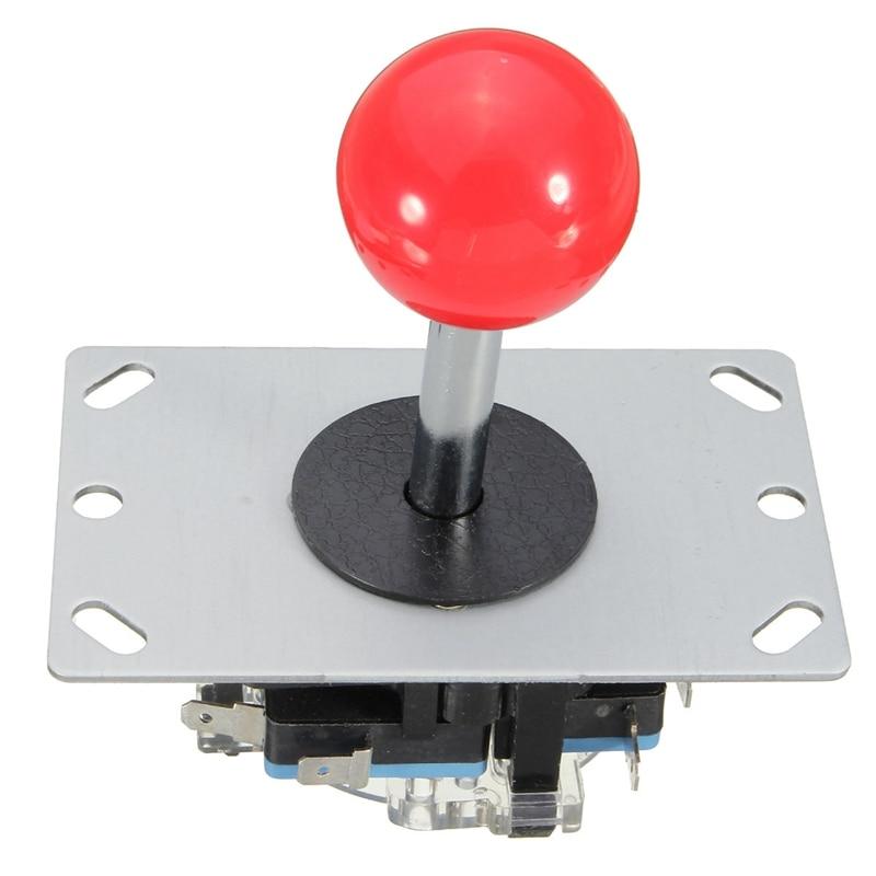 New Arrival  DIY Arcade Game Joystick Red Ball 4/8 Way Replacement Par