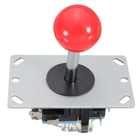 New Arrival DIY Arcade Game Joystick Red Ball 4 8 Way Replacement Parts For Fighting Stick