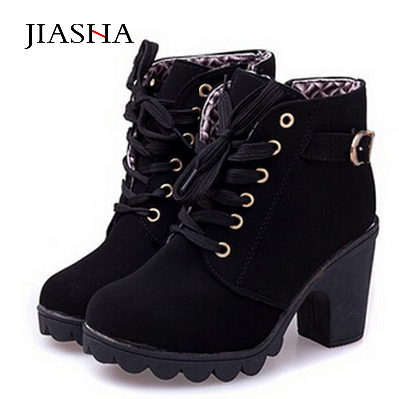 Martin Boots woman ankle boots 2017 Lace up Ladies high ...