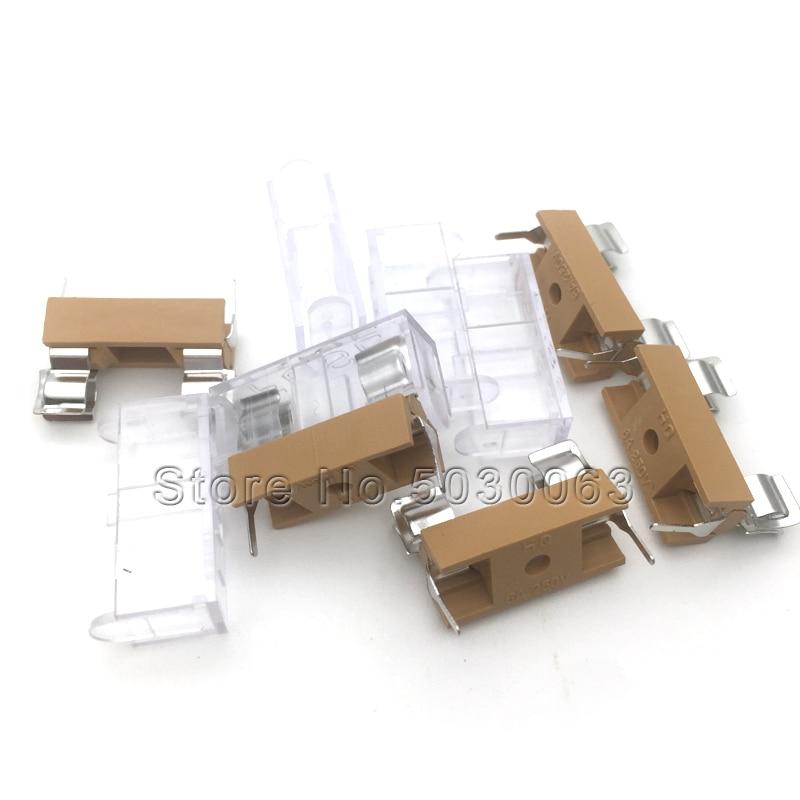 10pz Portafusibile nero da circuito stampato fusibile 5x20mm