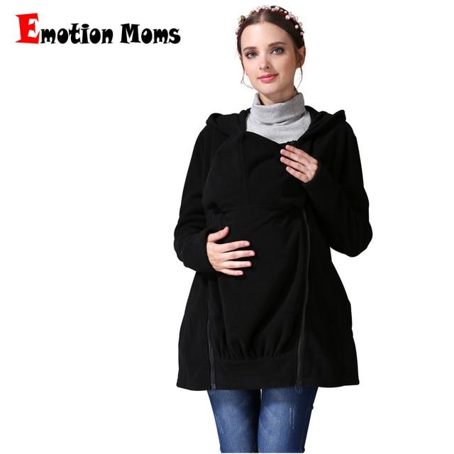 Emotion Moms invierno lactancia tops Multi función maternidad abrigo canguro  chaqueta embarazada ropa de maternidad 1ee6b15cb6f9
