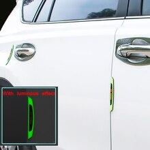 6P Car Door Protector Strip Sticker Thickened Guard Edge Corner Protector Body Door Side wheel Eyebrow Rearview Mirror Universal door guard protector anti collision sticker for car body rearview mirror black white 4 pcs