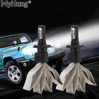 LED 60W 9600LM High Bright Car Headlights P7 H4 H13 9004 9007 Auto Front Bulb Automobiles Headlamp Car Lamps Car Styling