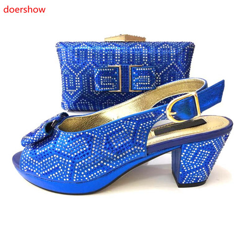doershow Italian Shoes with Matching Bags High Quality Woman Italian Shoes and Bags Set Nigerian Wedding Shoes with Bag !MS1-14 цены