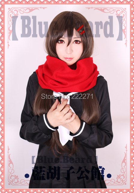 Free Track Anime Kagerou Project Tateyama Ayano Full Lace Cosplay Wig Without Hairpin Scarf Costume Heat Resistant + CAP