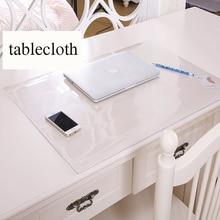SKTEZO Student table mats Transparent tablecloth Crystal mat Desk protection pad PVC transparent soft glass cloth