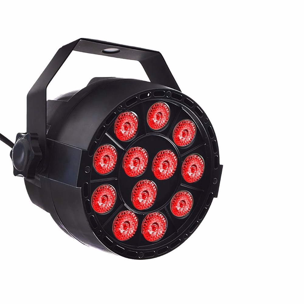 Aimbinet Par Light 12 LED RGB 3IN1 18W 1.5*12LED Stage Lighting DMX 512 Club Disco Party Ballroom KTV Bar Wedding DJ