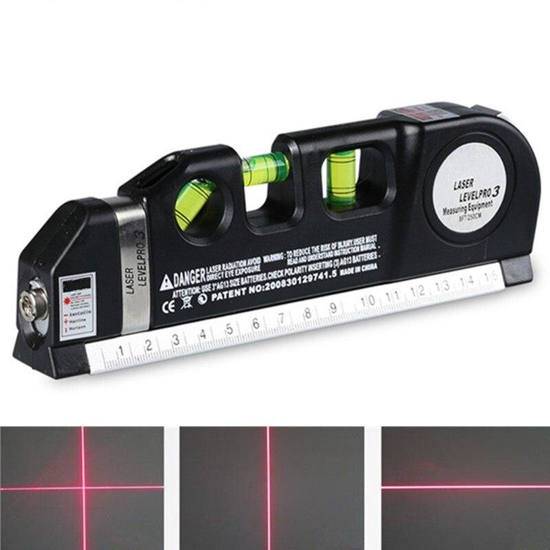 Ehrlich Fjs 4 In 1 Infrarot-laser-niveau Kreuzlinienlaser Band 2,5 Mt Measurment Mehrzweck Handwerkzeug Werkzeuge Optische Instrumente