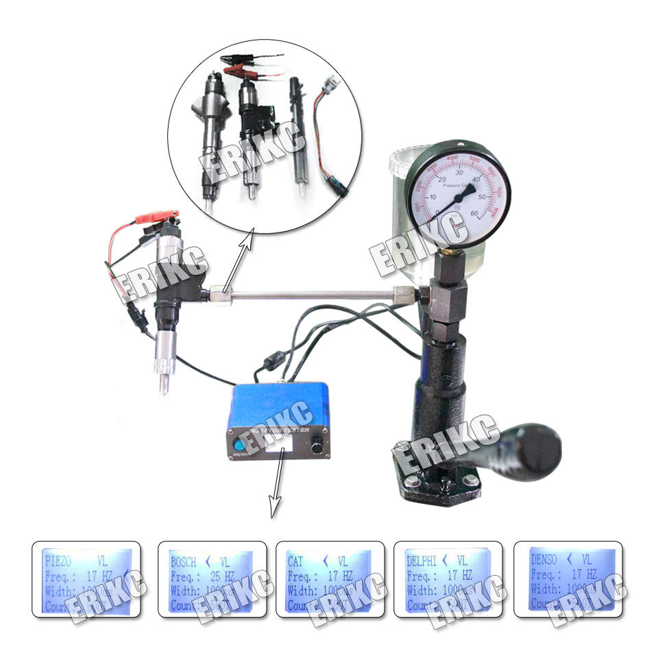 Common rail Injector Tester Kit KW608 Multifunction Diesel USB Injector Tester and S60H Common Rail Injection Nozzle Test Tool-in Engine Analyzer from Automobiles & Motorcycles    1