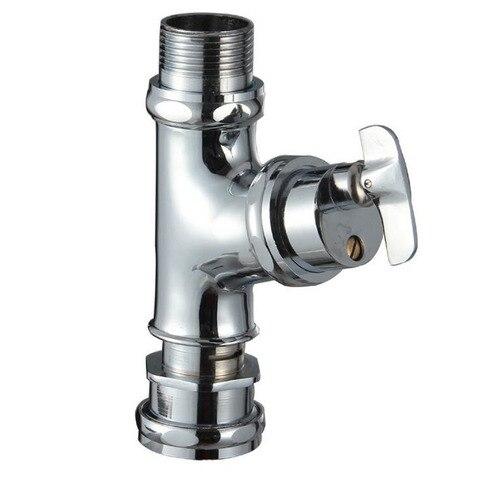 Botão de Controle do tipo wc Válvula de Descarga de Cobre Válvula de Descarga Fezes Squat Atraso Mictório Válvula Cromado – wc Pan