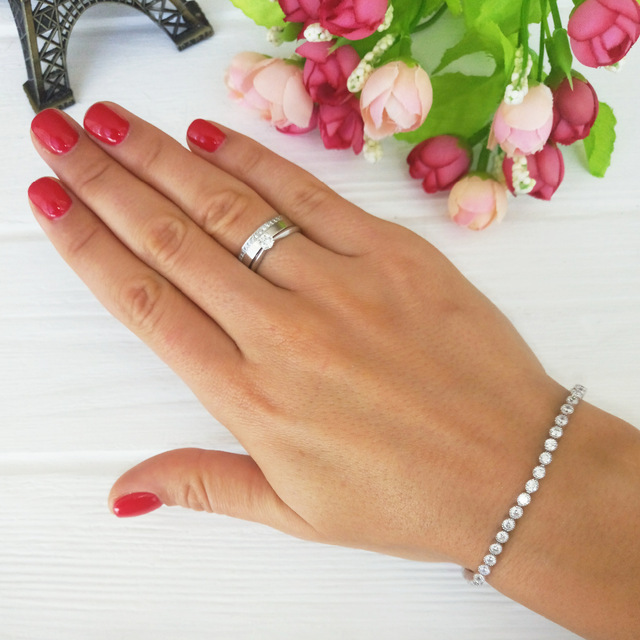 Hot sale high quality fashion S925 silver bracelet for couples gift GSW02